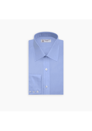 Light Blue Fine Stripe Shirt with T & A Collar and 3-Button Cuffs