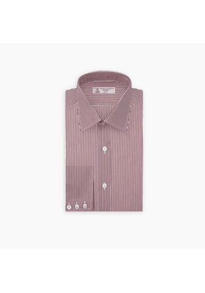White and Burgundy Stripe Cotton Shirt with T & A Collar and.