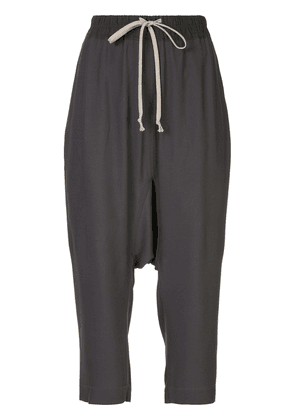 Rick Owens drawstring cropped trousers - Grey