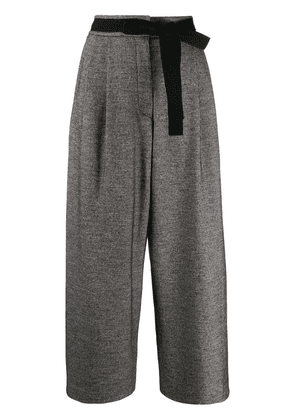 Odeeh cropped wide-leg trousers - Grey