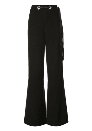 Jonathan Simkhai star studded wide leg trousers - Black