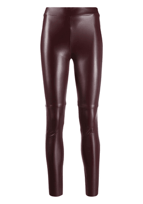 Wolford Estella faux leather adjustable leggings - Red