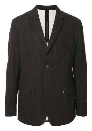 Forme D'expression single-breasted fitted blazer - Black