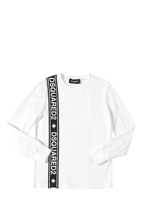 L/s Cotton Jersey T-shirt W/ Logo Band
