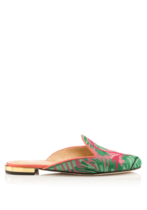 Charlotte Olympia Sale Women - FLAMINGO MULES MULTI COLOUR EMBROIDERED CANVAS 36
