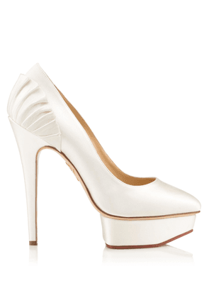 Charlotte Olympia Pumps Women - PALOMA WHITE SATIN 39,5