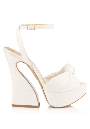 Charlotte Olympia Sale Women - VREELAND OFF WHITE Silk Satin 35