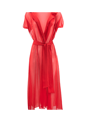 Charlotte Olympia Sale Women - PIN UP MIDI ROBE RED SILK L