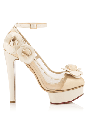 Charlotte Olympia Sale Women - FLORA IVORY AND NUDE CALF/NETTING 35