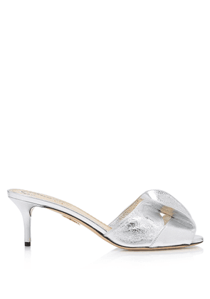 Charlotte Olympia Sale Women - DREW SILVER METALLIC CRINKLED KID LEATHER 36