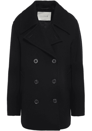 Mackintosh Double-breasted Wool Coat Woman Black Size 12