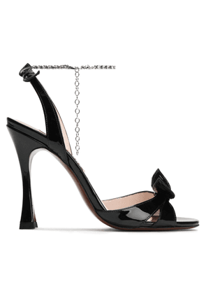 Alexachung Embellished Patent-leather Sandals Woman Black Size 35