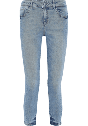 Dl1961 Florence Cropped Low-rise Skinny Jeans Woman Light denim Size 29