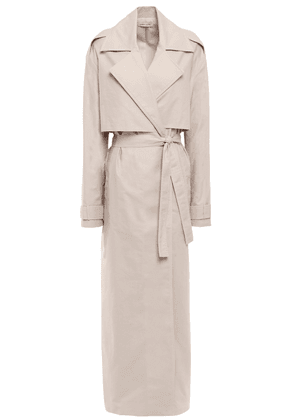 Anna Quan Inez Belted Cotton-gabardine Trench Coat Woman Neutral Size 10