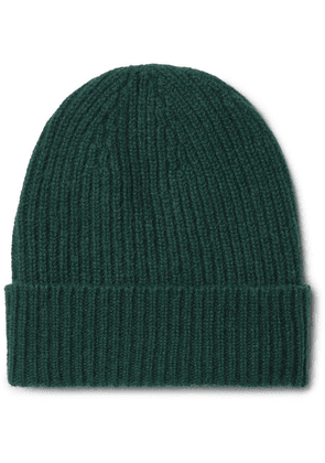 Anderson & Sheppard - Ribbed Cashmere Beanie - Green
