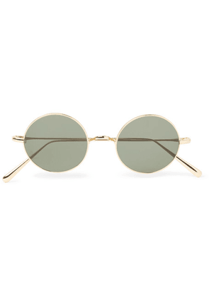 Cubitts - Guilford Round-frame Gold-tone Metal Sunglasses - Gold