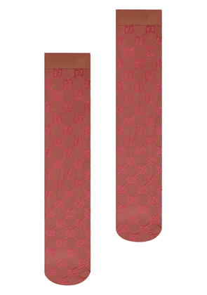 Gucci GG pattern knee-high socks - Red