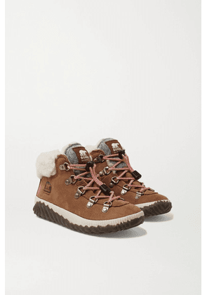 Sorel Kids - Sizes 32 - 35 Out N' About Conquest Shearling-trimmed Suede Ankle Boots