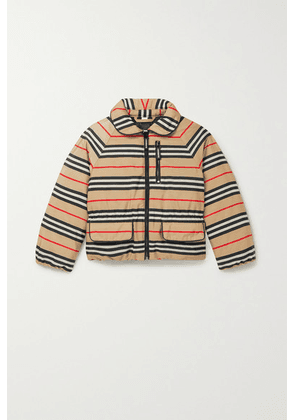 Burberry Kids - Ages 3 - 12 Striped Shell Down Coat