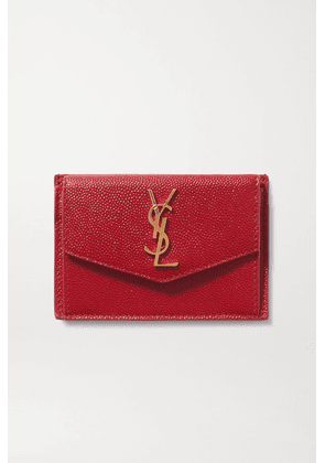 SAINT LAURENT - Uptown Textured-leather Cardholder - One size