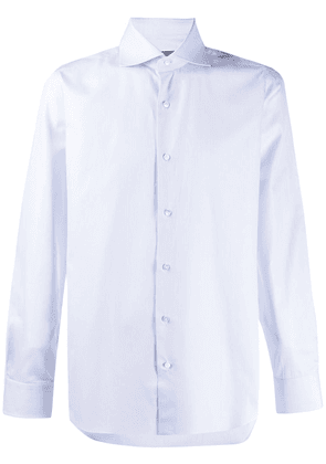 Barba long-sleeved plain shirt - Blue