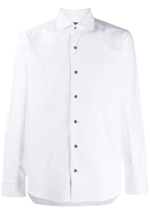 Barba long sleeved cotton shirt - White