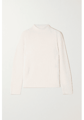 Vince - Ribbed Wool And Cashmere-blend Sweater - Off-white