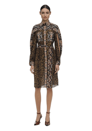 Printed Mulberry Silk Dress