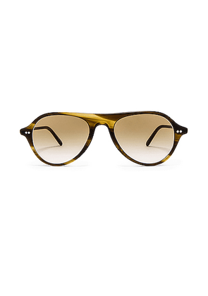 Oliver Peoples Emet in Bark & Honey Gradient - Brown. Size all.