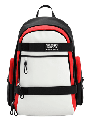 Mixed Tech Canvas Backpack