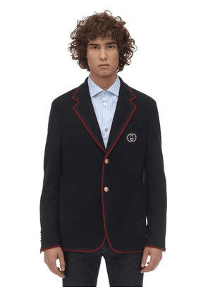 New Wool & Cotton Jersey Jacket