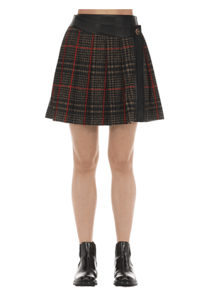 Tartan Kilt W/leather Detail