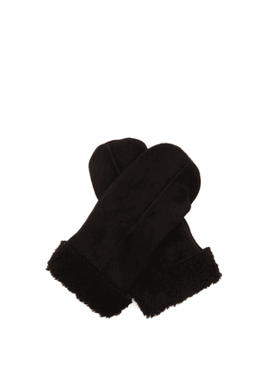 Dents - Inverness Shearling Mittens - Mens - Black