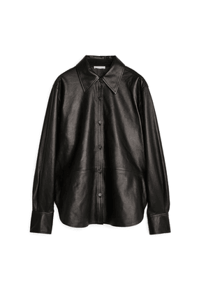 Leather Shirt - Black
