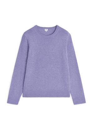 Cashmere Crew-Neck Jumper - Purple