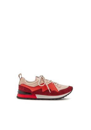 Mulberry MY-1 Degrade Lace-up Sneaker in Crimson and Red Soft Lamb Nappa