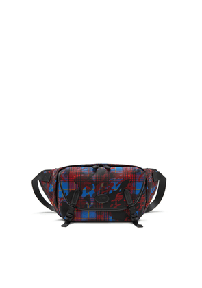 Mulberry Sling Bag in Blue, Red and Yellow Camo Check ECONYL