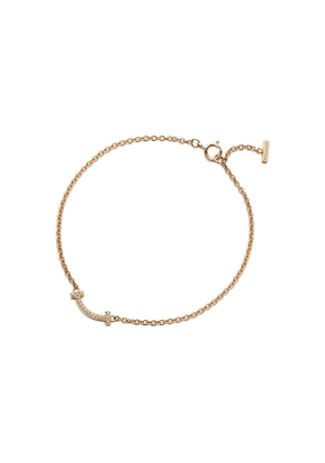 Tiffany T smile bracelet in 18k gold with diamonds, small