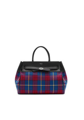Mulberry Belted Bayswater in Porcelain Blue Tartan Check