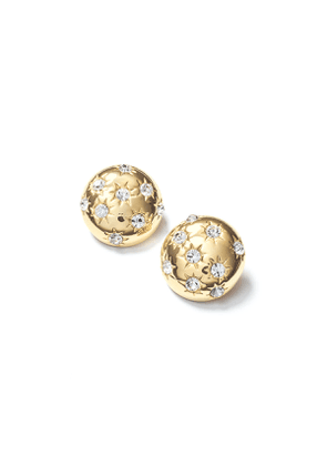 Starburst Deco Button Earrings