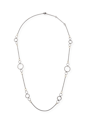 Old World Long Alternating Link-Chain Necklace