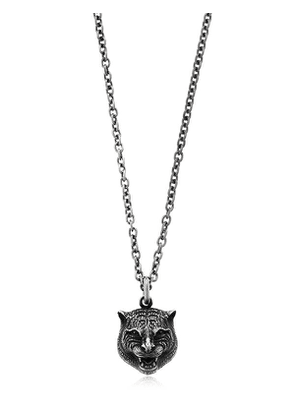 Angry Cat Long Chain Necklace