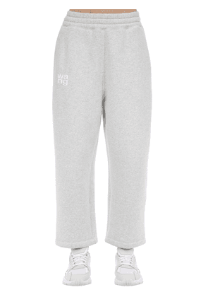 Embroidered Cotton Blend Sweatpants