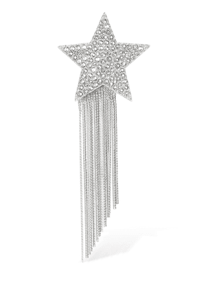 Fringed Crystal Star Brooch