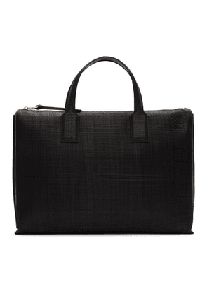 Loewe Black Textured Goya Simple Briefcase
