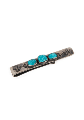 Sterling Silver Tie Bar With Turquoise Stones