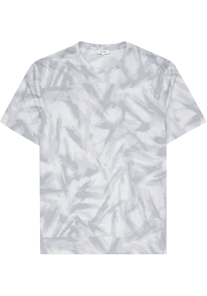Reiss Bruno - Printed T-shirt in LIGHT GREY, Mens, Size XS