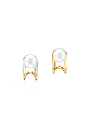 Tiffany City HardWear South Sea pearl earrings in 18k gold