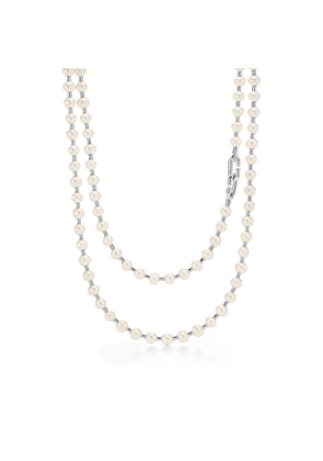 Tiffany City HardWear freshwater pearl wrap necklace in sterling silver