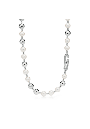 Tiffany City HardWear freshwater pearl ball necklace in sterling silver
